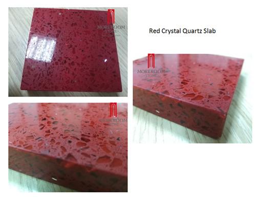 Artificial Red Rose Crystal Quartz Tile &Slab