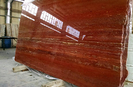 Red Travertine Polished Travertine Slabs