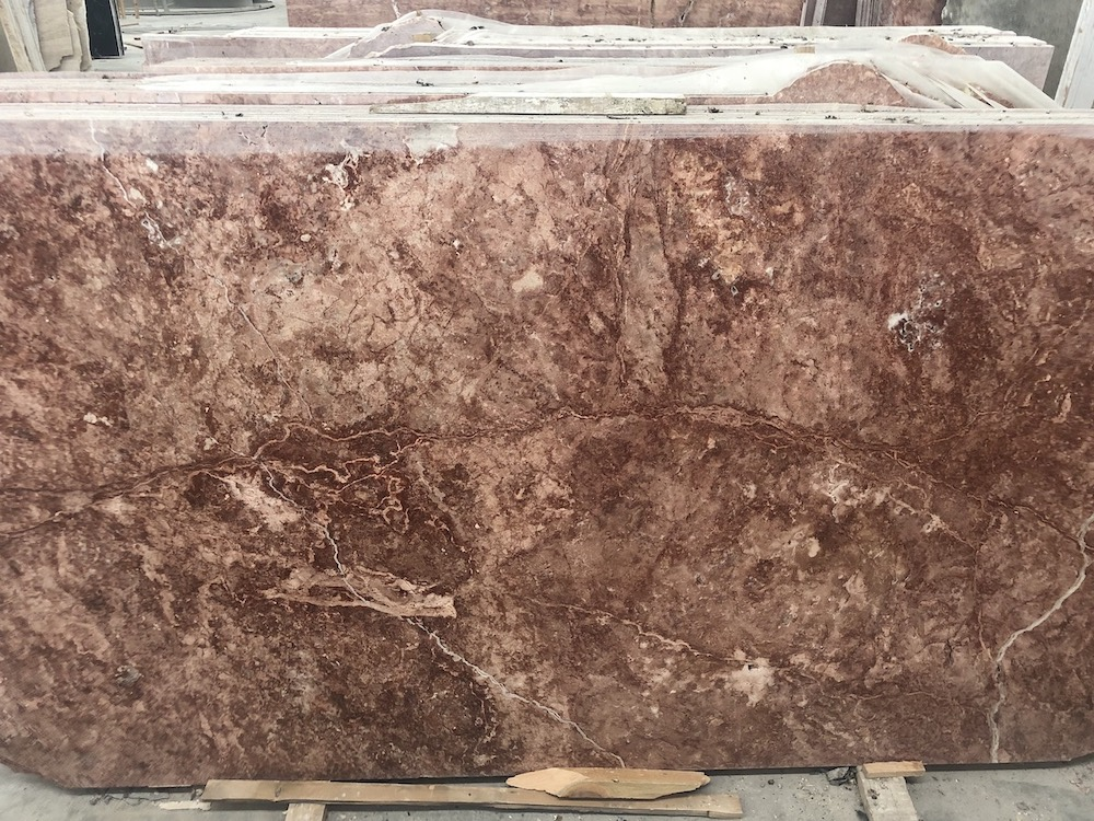 Red Travertine Slabs
