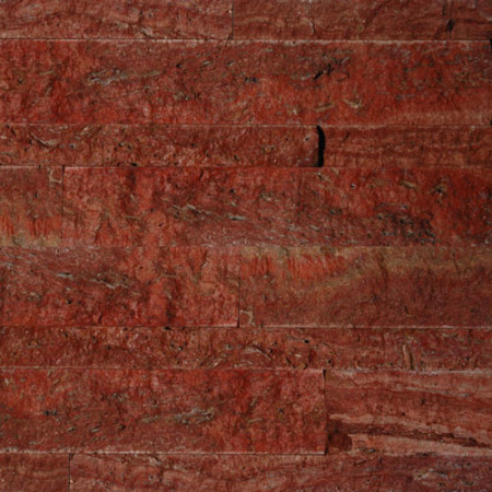 Red Travertine Split Face