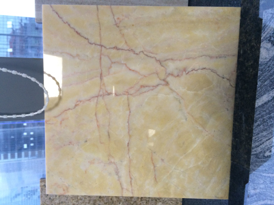 red line creamyellow marble