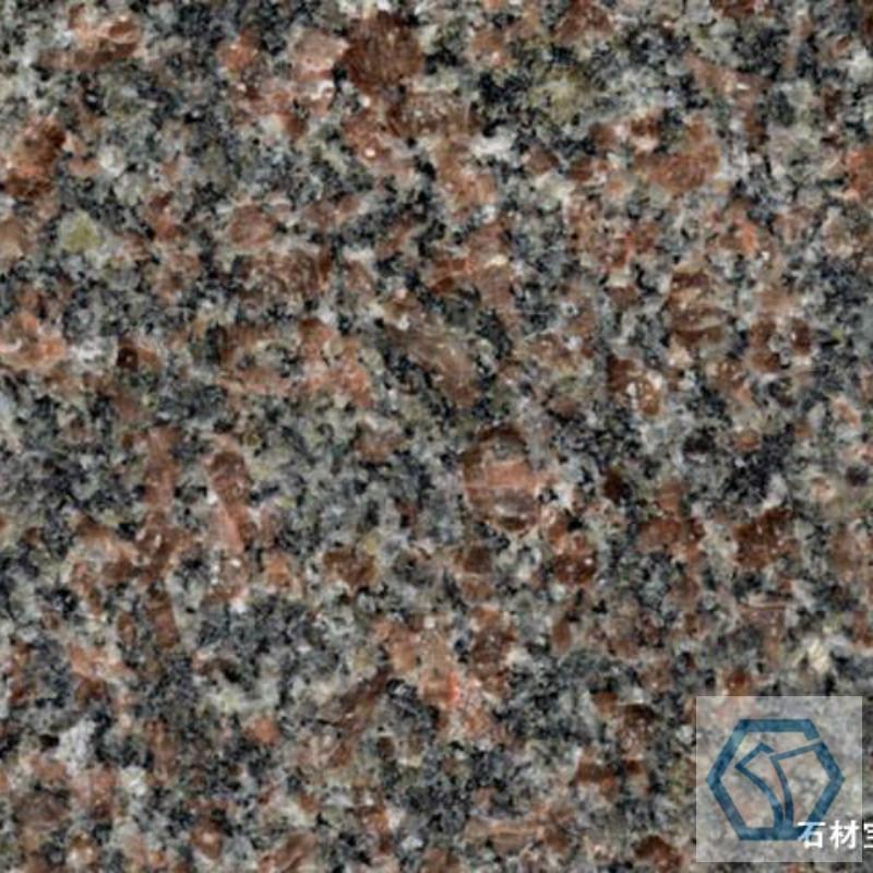 Red amethyst granite