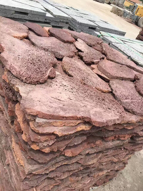 Red sandstone loose paving stone for sales