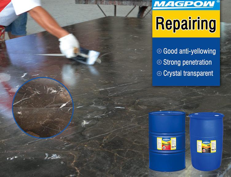 stone epoxy for marble & granite fissures repair