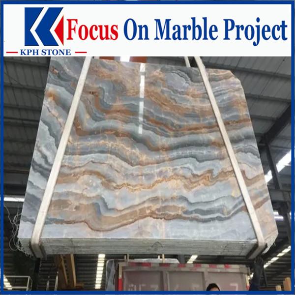 Blue roma impression marble