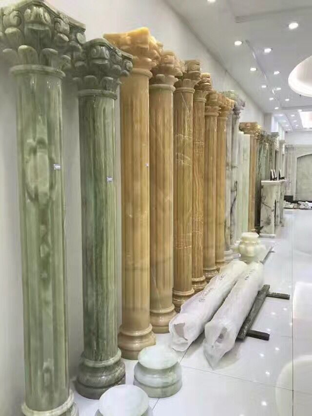 Chinese Marble Polished Roman columns