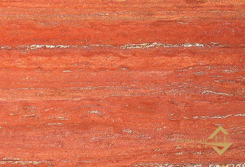 Rosso travertine