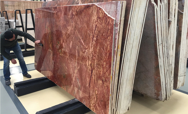 Factory Supply Rosso Damasco Marble Slabs & Tiles