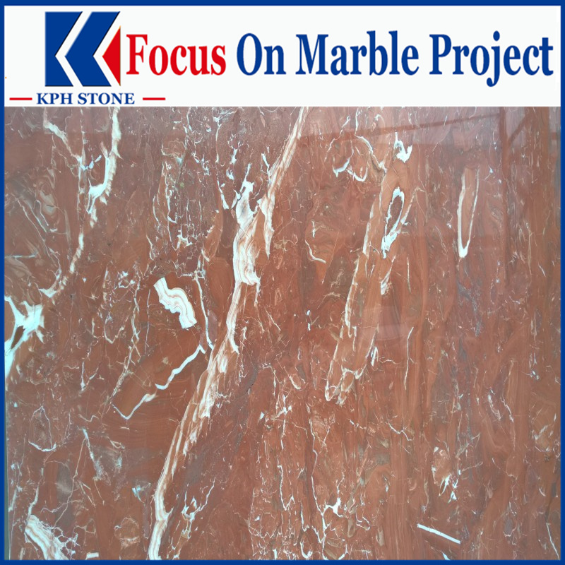 Rosso France red marble tiles for Kowloon Shangri-La