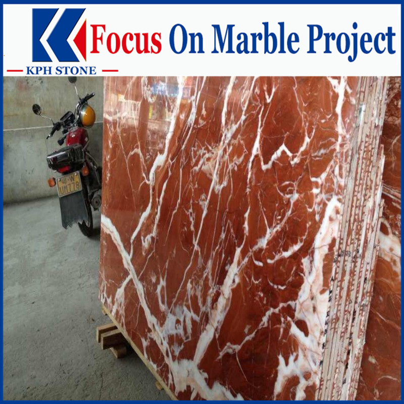 Classico Rosso Rouge Francia marble slabs for Westin