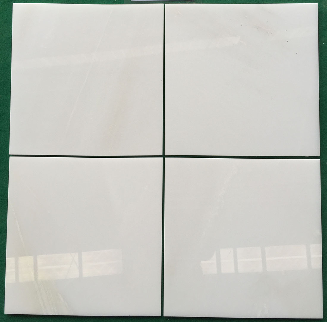 Zhongxi China White Marble Tiles 1cm