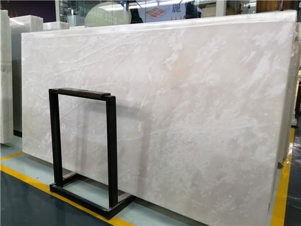 Factory Price Roya White Ice Onyx Slab