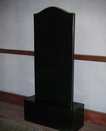 Russian style tombstone Shanxi Granite black