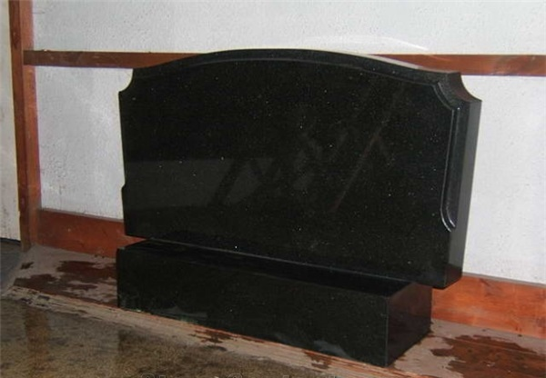 China Shanxi Black Russian Style Polished Tombstones