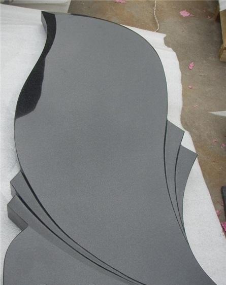 Russian style tombstone Shanxi Granite black