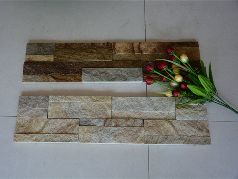 Rustic quartzite wall culture stone
