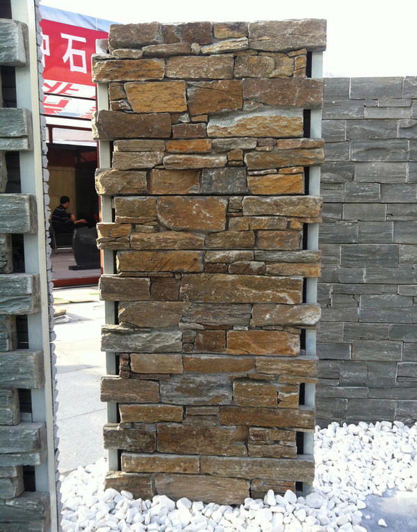 Beautiful rusty quartzite cement cultured stone panel
