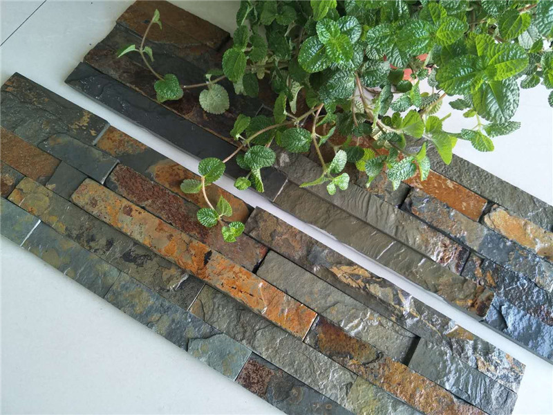 Rusty slate stone exterior wall cladding culture stone