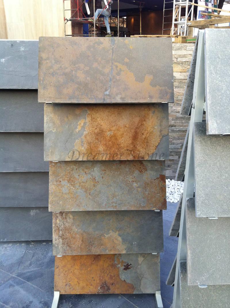 Garden autumn slate stone floor tiles for sale