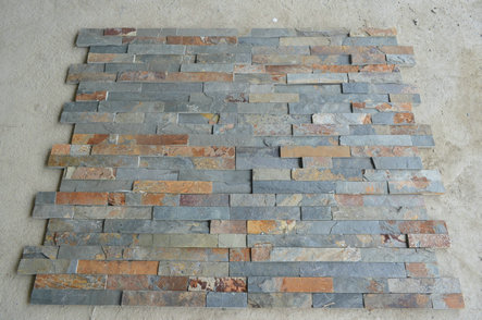 Rusty slate wall stone