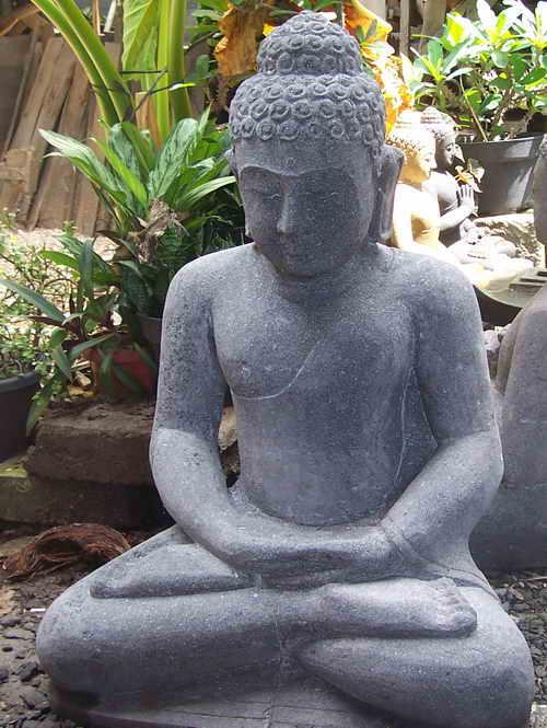 Bali Black Lavastone Buddha Sculptures