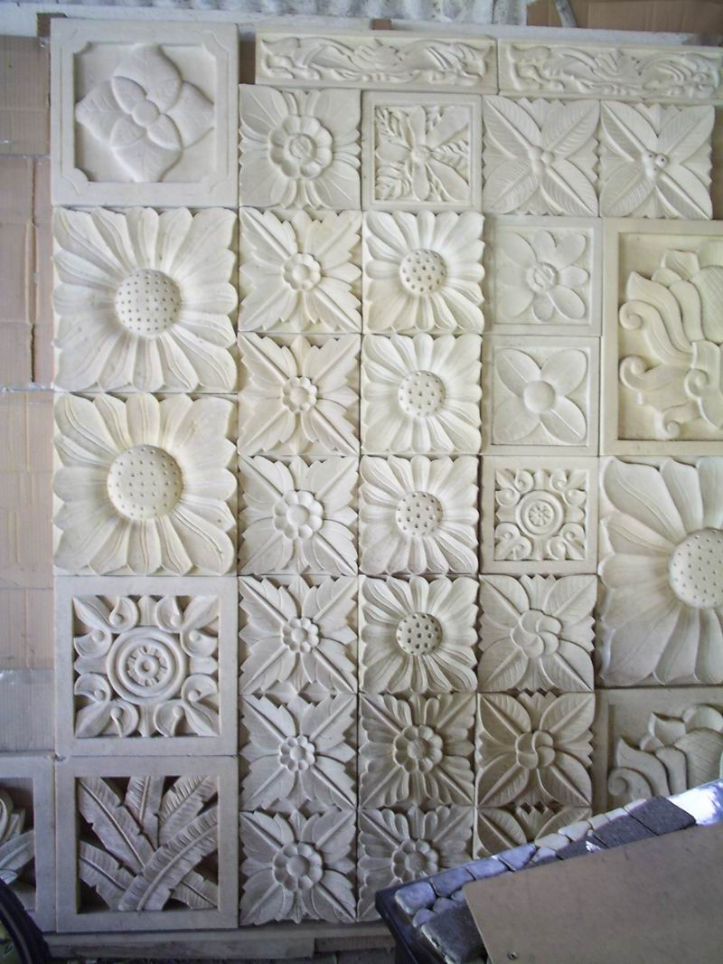 Bali White Limestone Stone Relief and Carvings