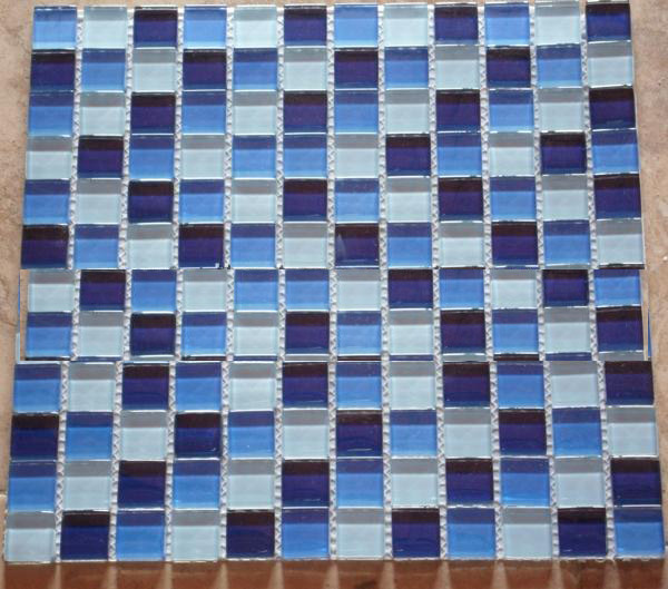 Crystal mosaic for swimming pool and decorative wall