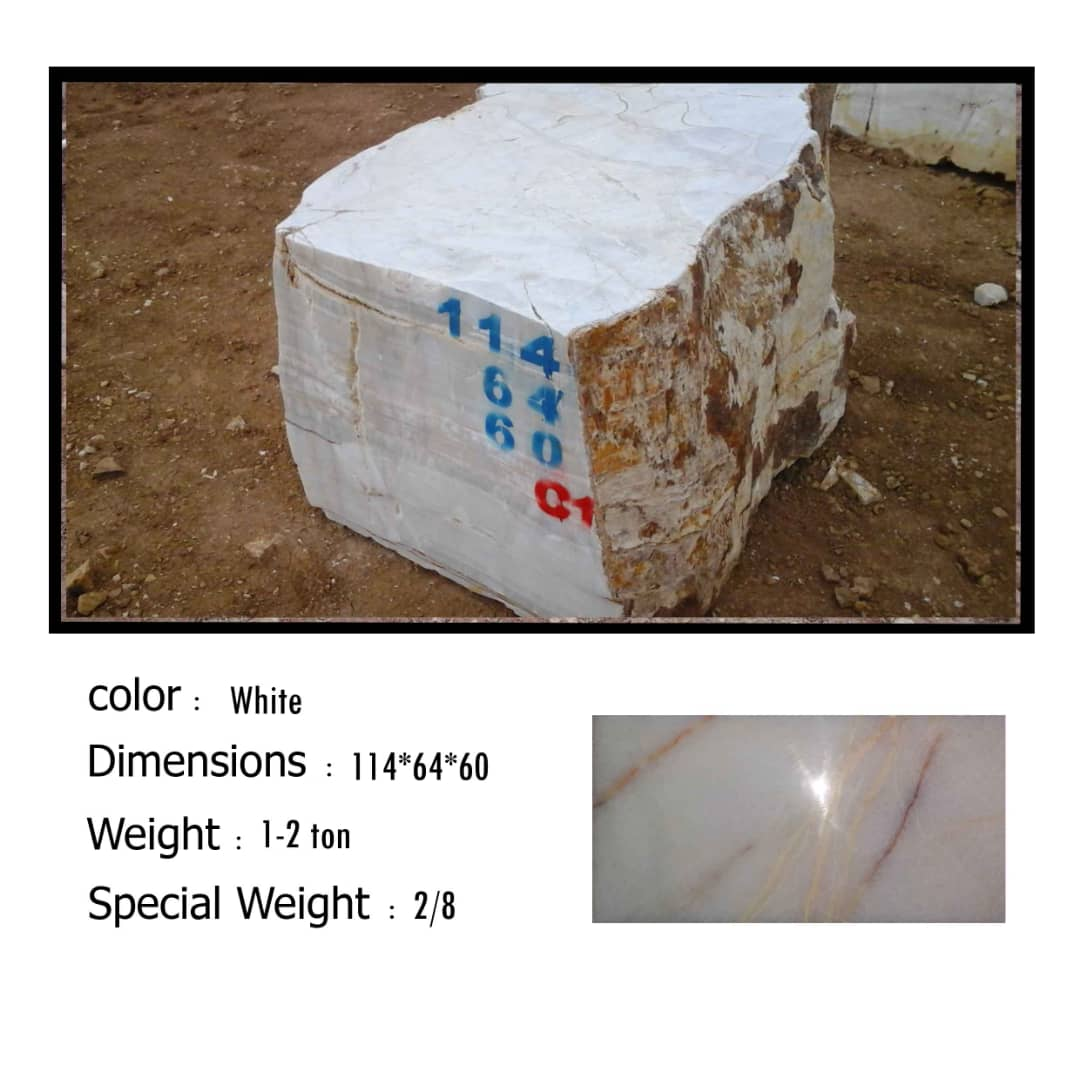 White Onyx Blocks from Iran