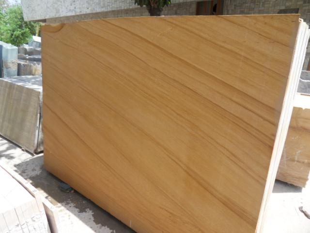 Teakwood Sandstone Polished Indian Sandstone Slabs