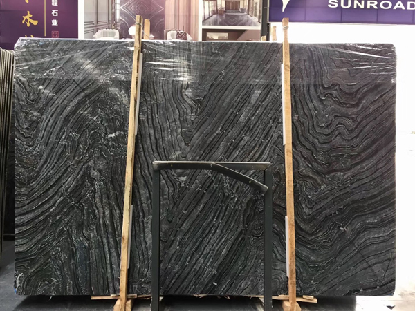 Silver Wave Black Forest Kenya Marble
