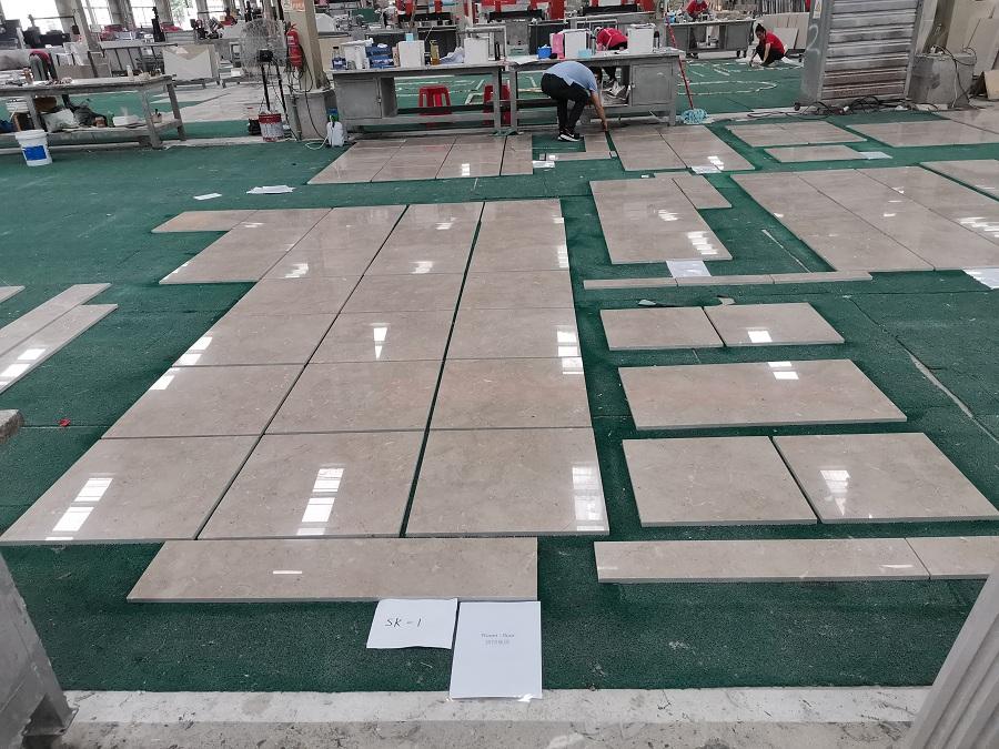Beige marble tile