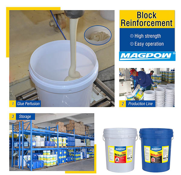block reinforcement epoxy for protection
