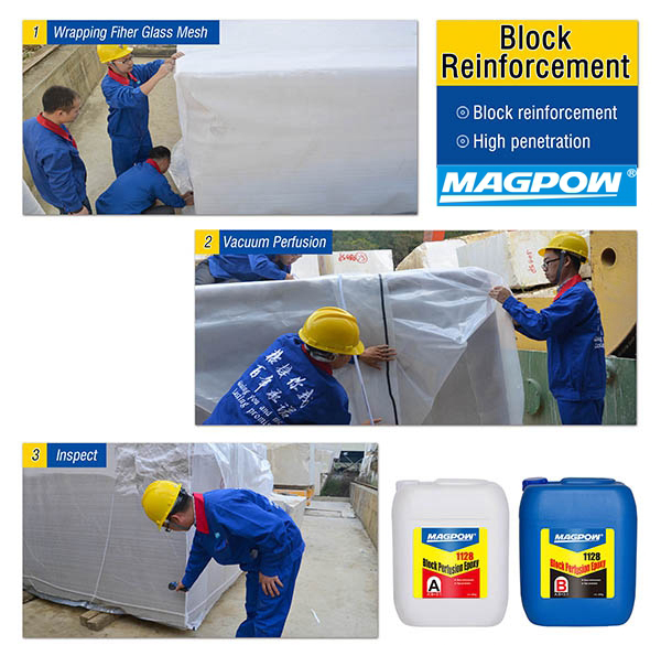 block vacuum perfusion epoxy for protection