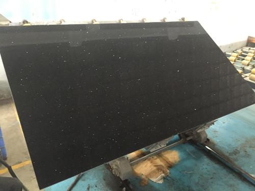 Crystal black quartz stone slab Engineered Stone for Countertop