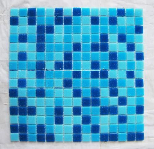 Glass mosaic for swimming pool and decorative wall