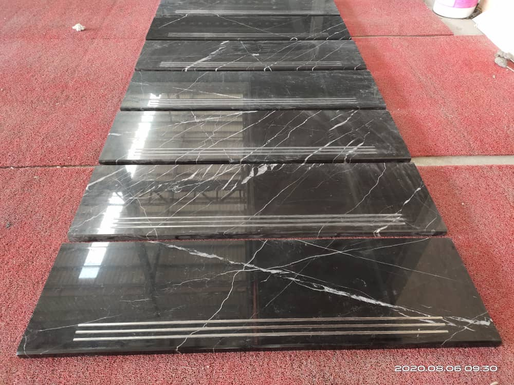 Saint Laurent Brown Marble Brwon Marble with white Veins Black Marquina Marble