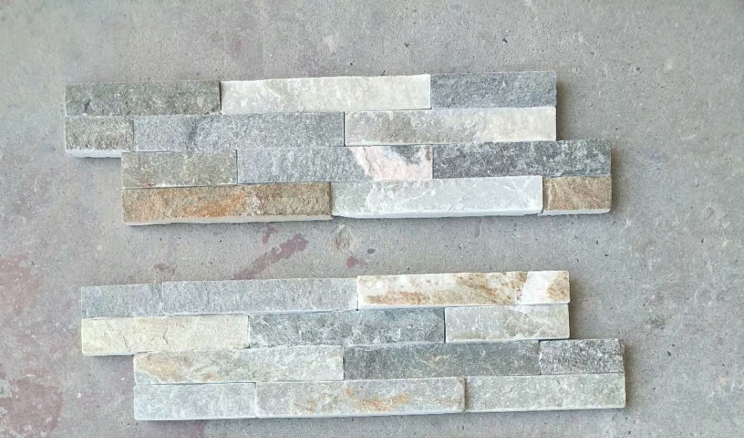 Multicolor yellow slate wall cladding stone