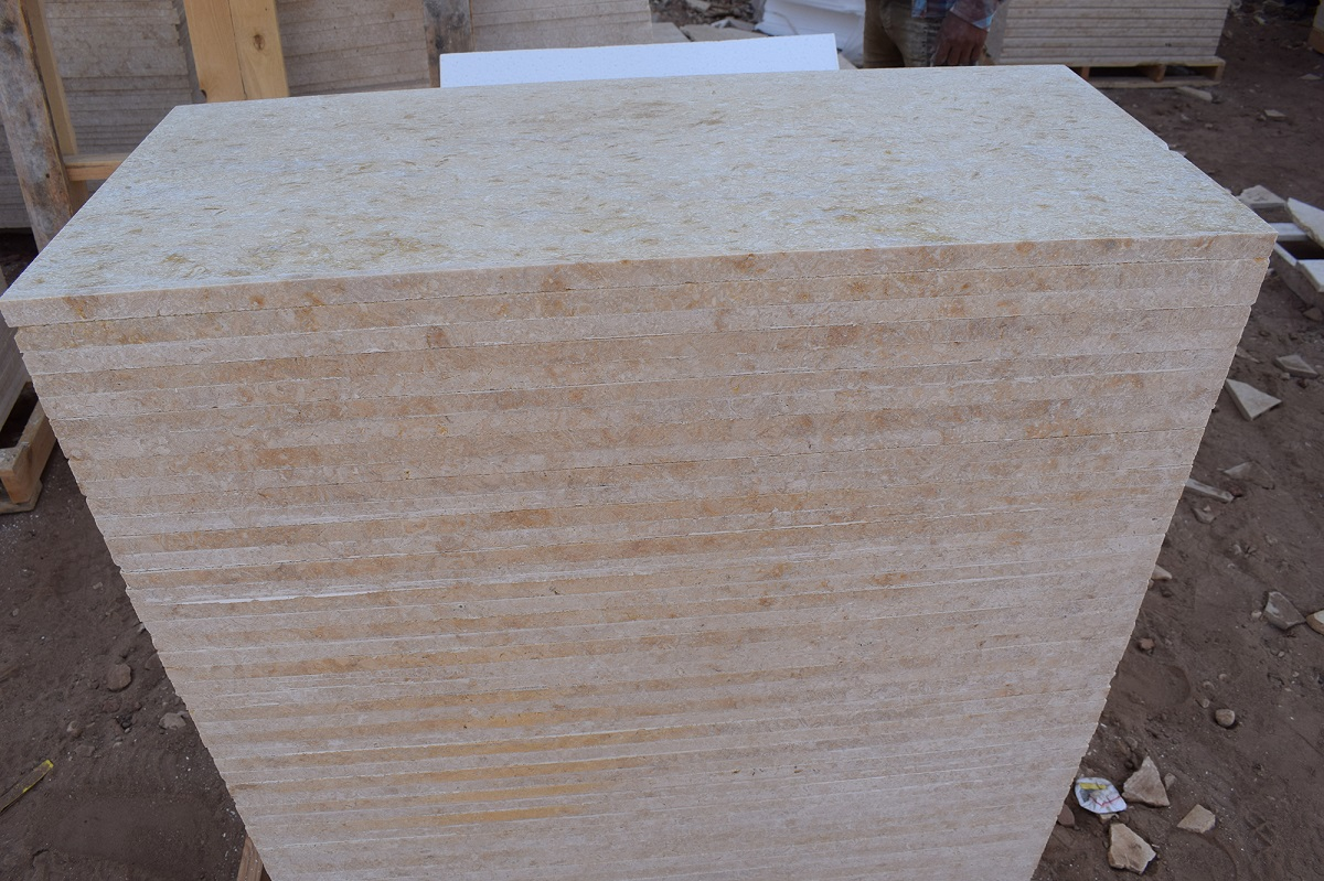 Samaha Beige Honed Marble Tiles