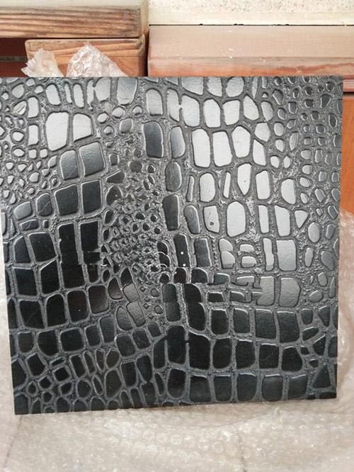 King Black Marble Crocodile FinishingNew Belgium leather finishing