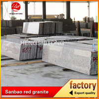 Cheap price sanbao red granite slab