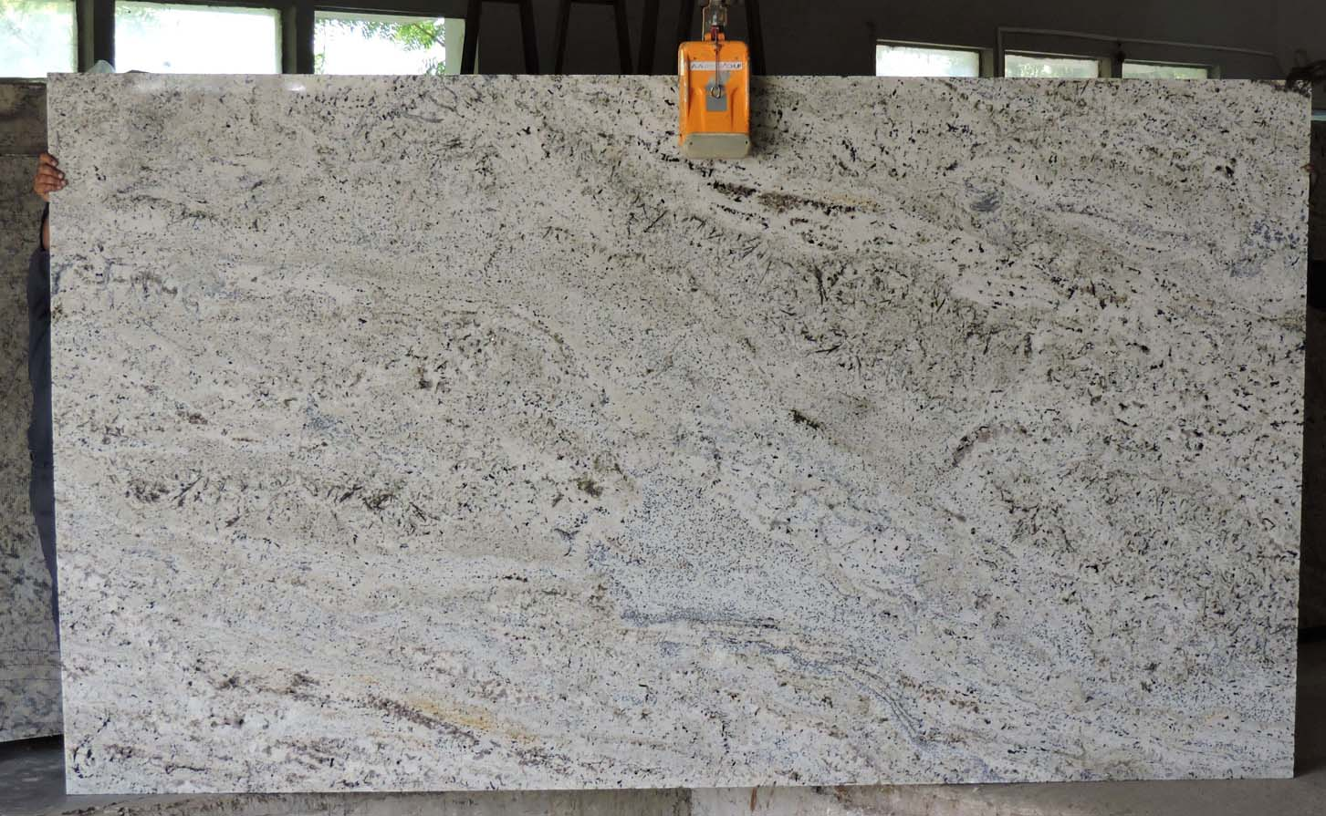 Savannah White Granite slab