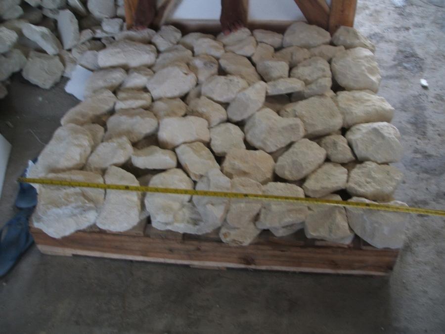 Bali Scaled White Limestone Stone Retaining Walls