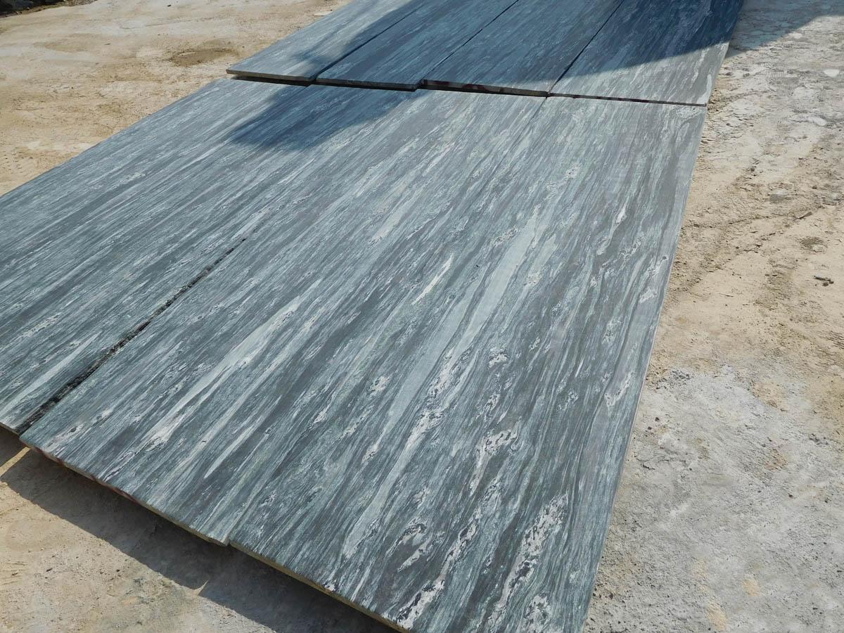Sea Wave Green Granite Leather Flooring Tiles