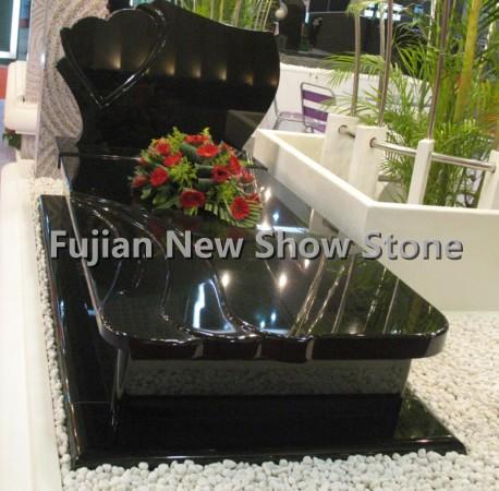 Chinese black gravestones