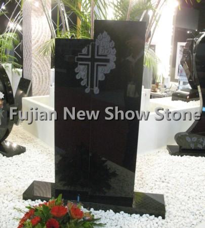 Black Granite Tombstone Simple