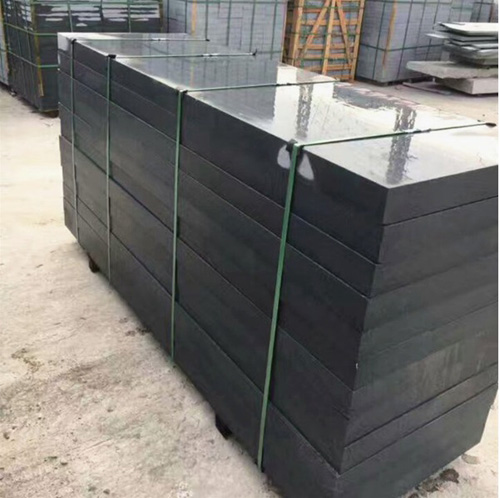 Custom Chinese black polished granite tombstone