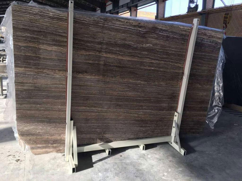 Silver Travertine Slab