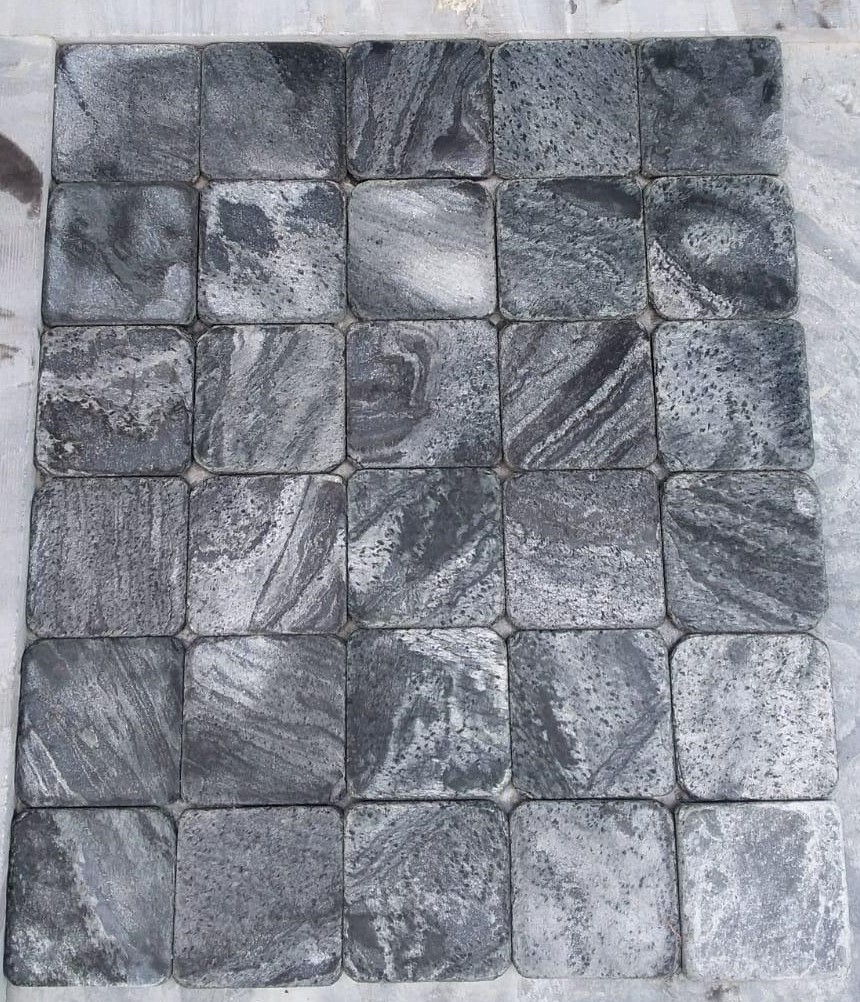 Silver Grey - Brushed Tumbled - 100x100 mm Tiles
