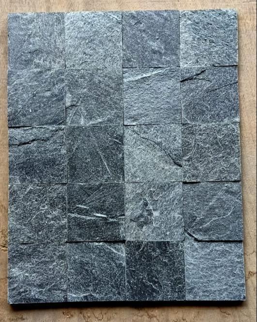 Silver Grey - Polished - 50x50 mm Quartzite Tiles