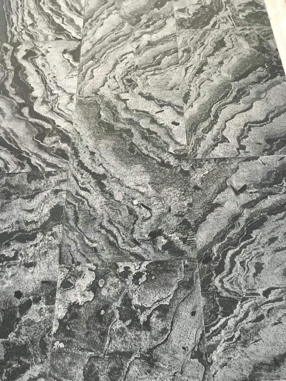 Silver Grey Sawn   Brushed Quartzite